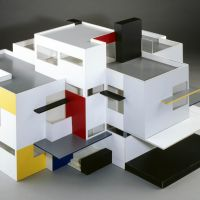 Theo van Doesburg, Maison Particulière, wood and perspex, 1923 (reconstruction 1982 by Tjarda Mees), Gemeentemuseum Den Haag