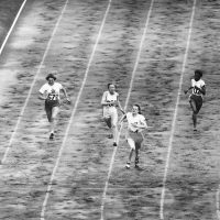 100 metre sprint final with Fanny Blankers-Koen. Olympic Games, London, 1948. Photographer unknown. © Bettmann/CORBIS