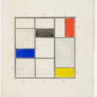 Theo van Doesburg. Design for a roof light in the library, Meudon-Val-Fleury, 1930. Collection Het Nieuwe Instituut, donation Van Moorsel, DOES AB5087