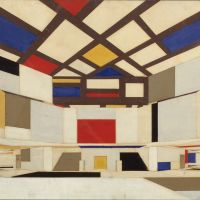 Cornelis van Eesteren and Theo van Doesburg, Design of a University Hall at Amsterdam, 1923, Het Nieuwe Instituut Collection