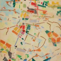 Willem Jan Neutelings. Patchwork metropolis in The Hague and Rotterdam region, 1990. Collection Het Nieuwe Instituut, NEUR t4