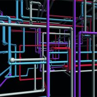 Screensaver 3D Pipes