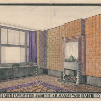 F. A. Warners. Interior of 'Westhove' apartment building, Amsterdam, 1922. Collection Het Nieuwe Instituut, WARS t45.22