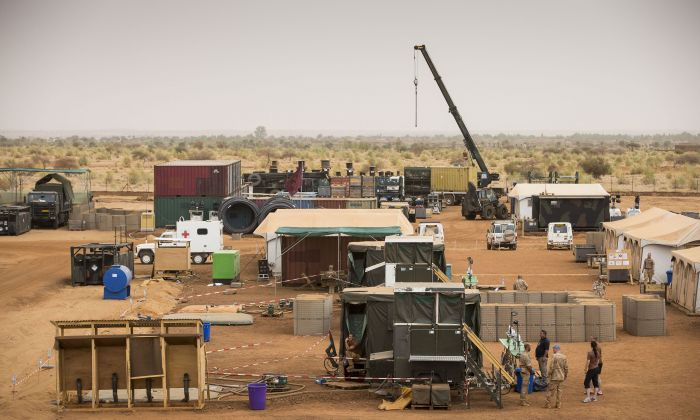 Setting up Camp Castor, Gao, Mali. Photo Ministry of Defense