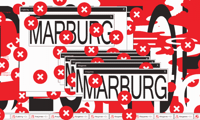 Graphic design: HORT, 'Marburg,' for the online virus library Computer Virus Catalog, a project by Bas van de Poel.