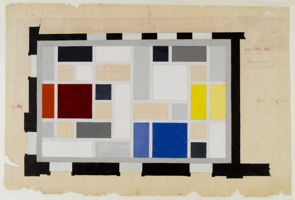 Theo van Doesburg. Café Aubette, final colour design for the ceiling of the Grand Hall, 1927. Collection Het Nieuwe Instituut, donation Van Moorsel, DOES ab5168.