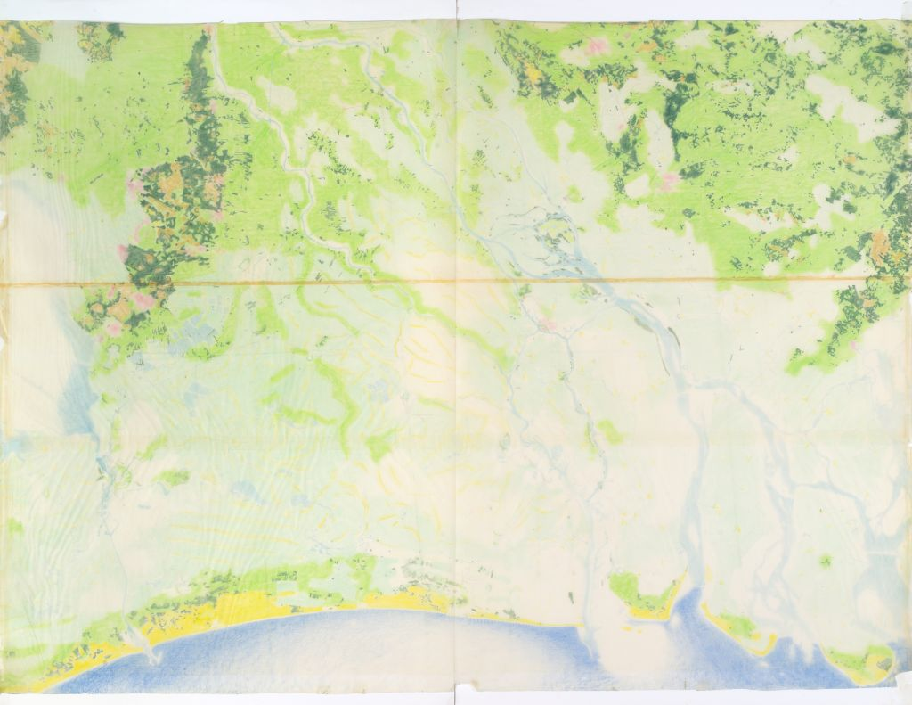 Pjotr Gonggrijp. Various types of landscape in the Netherlands delta region, 1969. Collection Het Nieuwe Instituut, GONG 3